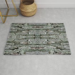 Maple Bark & Lichen - Old Mossy Maple Tree Bark - Natural Patterns Rug