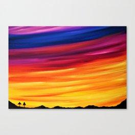 Yellow Horizon Canvas Print