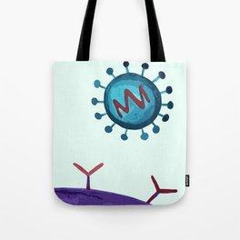 virus inspired illustration Tote Bag