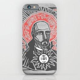 Saint Ignatius of Loyola illustration iPhone Case