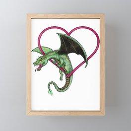baby dragon Framed Mini Art Print