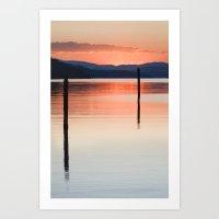 Sunset Poles Art Print