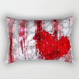 Bleeding Heart on Marble Rectangular Pillow