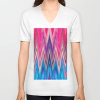 aztec V-neck T-shirts featuring AZTEC by Acus