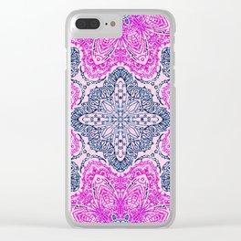 Mehndi Ethnic Style G448 Clear iPhone Case
