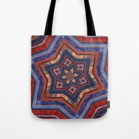 patriotic Tote Bags featuring Patriotic Star by Durin Eberhart
