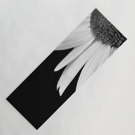 Half Daisy in Black and White Yoga Mat