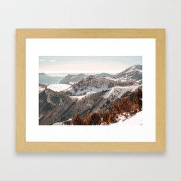 mountains of Italy #society6 #decor #buyart Framed Art Print