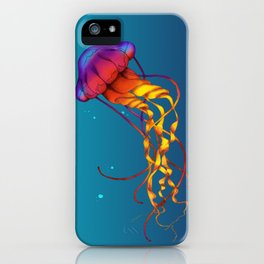 Jellyfish Red iPhone Case