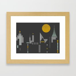City scape horizontal print Framed Art Print