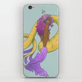 Crowned Mermaid iPhone Skin