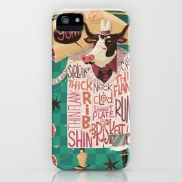 'Cows are REALLY Meaty!' iPhone Case