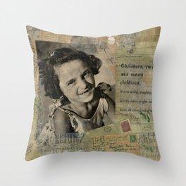 A Girl Named Rose Throw Pillow