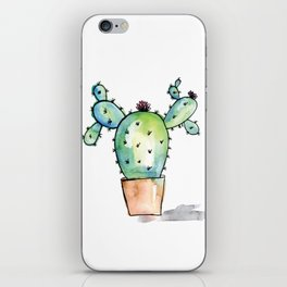 Watercolor Cactus iPhone Skin