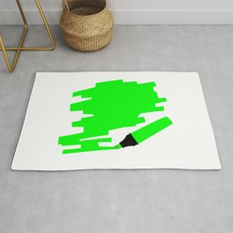 Green Marker Copy Space Rug