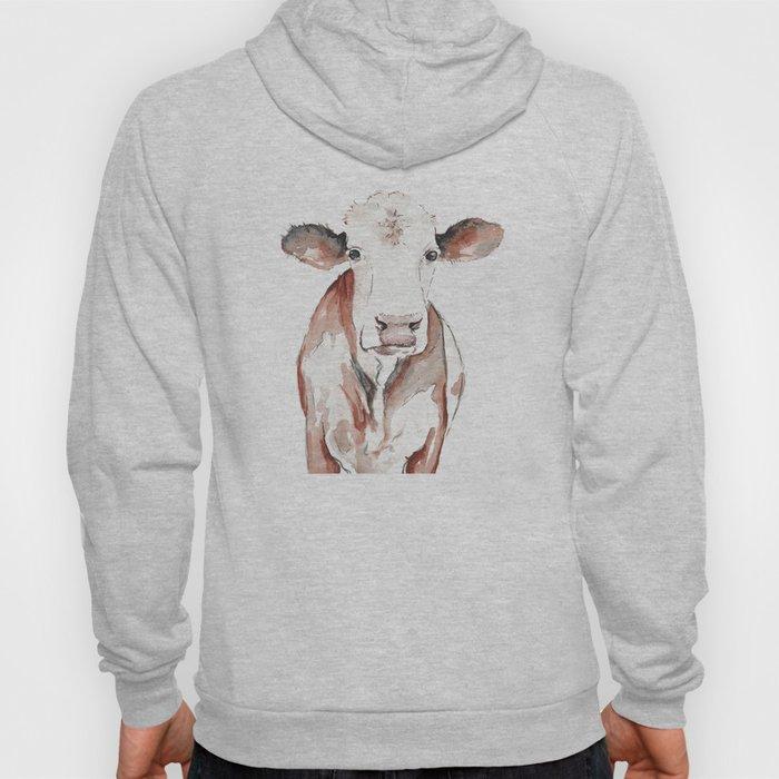 Cow Watercolor Hoody