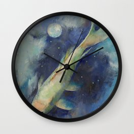 Beneath the Moon and Stars Wall Clock