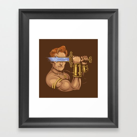 Late Night Barbarian Framed Art Print