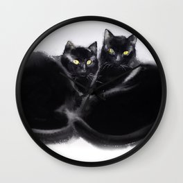 Cats together Wall Clock