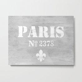 Paris No.2378 Metal Print