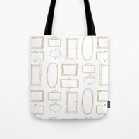 frames Tote Bags featuring Frames by Sarah Liddell