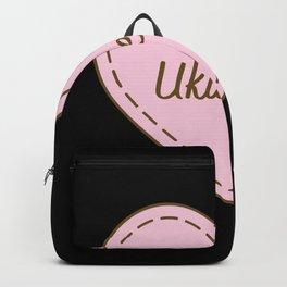 I Love Ukuleles Simple Heart Design Backpack
