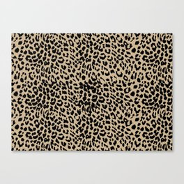 Leopard Almond Buff Canvas Print