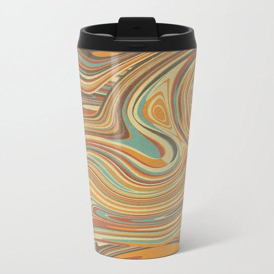 Rainbow Marble Organic Texture Metal Travel Mug