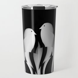 Paper Ribbon Birds Travel Mug