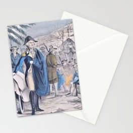 12,000pixel-500dpi - Nathaniel Currier - Washington at Valley Forge - December 1777-8 Stationery Cards