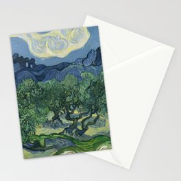 Vincent van Gogh - Olive Trees in a Mountainous Landscape Stationery Cards
