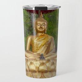 Golden Thai Buddha Travel Mug