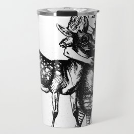 Alice and the Fawn in Black Travel Mug