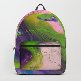 Dirty Acrylic Pour Painting 14, Fluid Art Reproduction Abstract Artwork Backpack