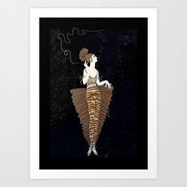 "Exotic ""Contessa"" Art Deco Theatre Design Art Print"