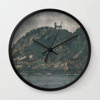 storm Wall Clocks featuring Storm by Rafael Igualada