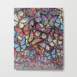 butterflies aflutter colorful version Metal Print