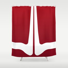 Striped Tomato Shower Curtain
