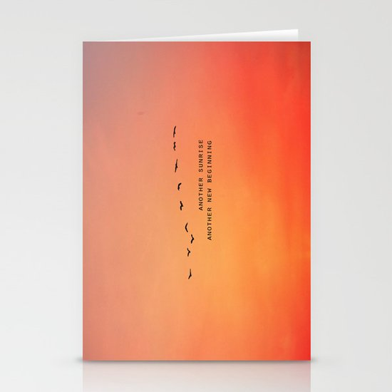 Another Sunrise Another New Beginning  Stationery Cards