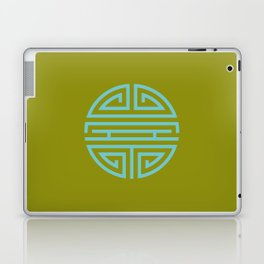 Shou Longevity In Green And Turquoise Laptop & iPad Skin