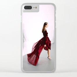 Antonio Berardi Red Dress London Fashion Week Feb 2016 Clear iPhone Case