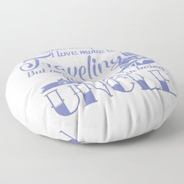 Traveling Uncle Floor Pillow