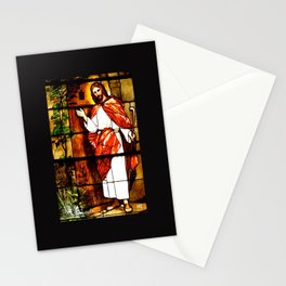 "Jesus knocks at ""The Door"" Stationery Cards"