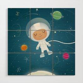 Little Astronaut Wood Wall Art
