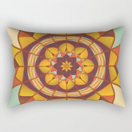 Multicolored geometric flourish Rectangular Pillow