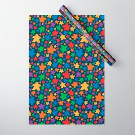 Funky Meeple Pattern Wrapping Paper