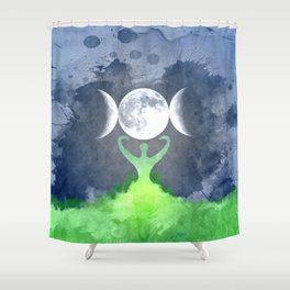 Mother Earth Goddess Moon Shower Curtain
