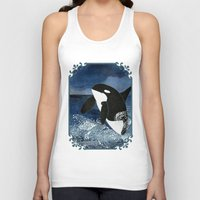 killer whale Tank Tops featuring Killer Whale Orca by Aquamarine Studio