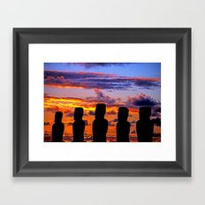 TOUCHED BY FIRE Framed Art Print