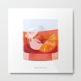 Cocktail Hour: Negroni Metal Print